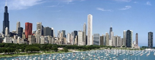 Chicago Illinois skyline 1