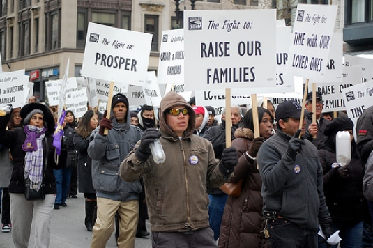 community organizers marching 1