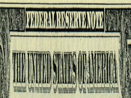 Federal Reserve note streached 1a