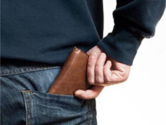 man's wallet pocket hand 2a