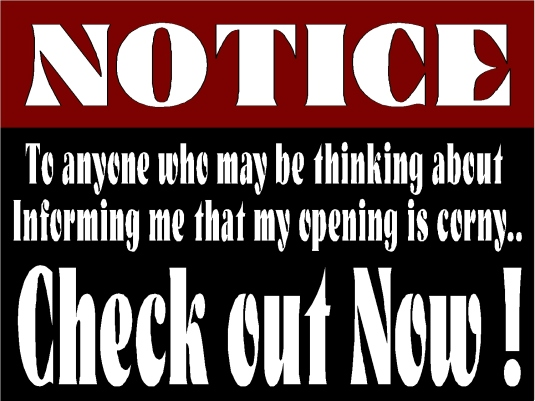 notice - check out now 1a
