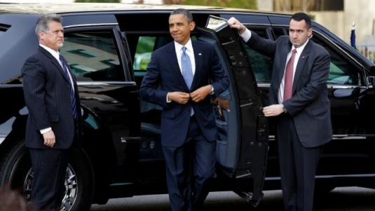 Obama limousine Secret Service