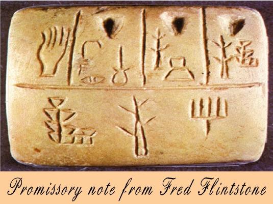 promissory note - Fred Q. Flintsto
