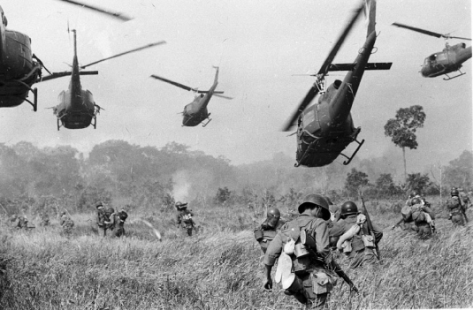 the Vietnam War - helicopters