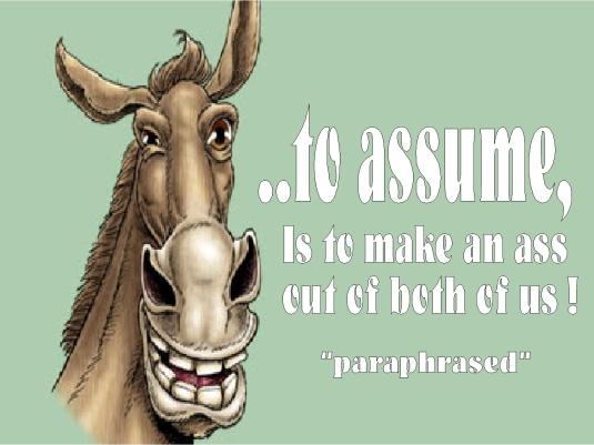 to assume 1