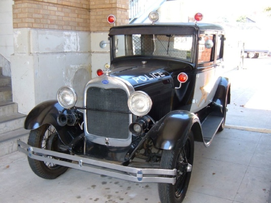 1930 model a Ford police car