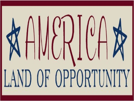 America land of opportunity - p