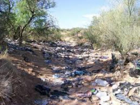 Arizona landscape - with rubbis