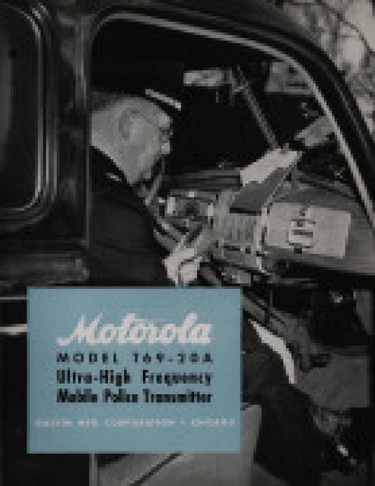 Motorola police car radio