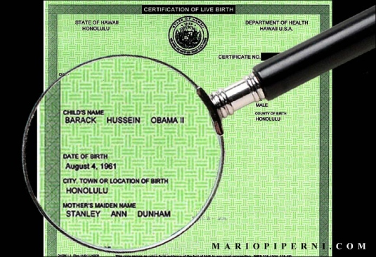Obama birth certificate - 1
