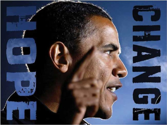 Obama - hope and change poster