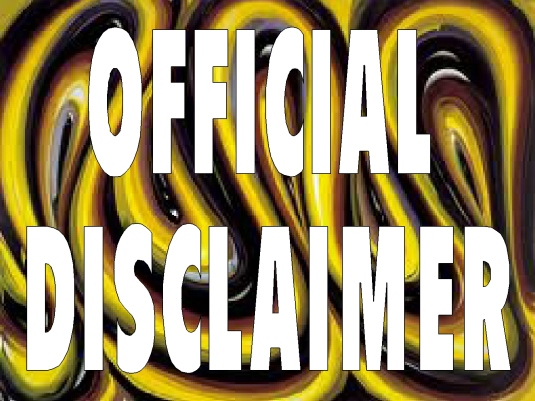 official disclaimer - page brea