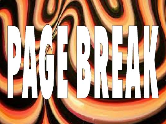 orange and black - page break 1