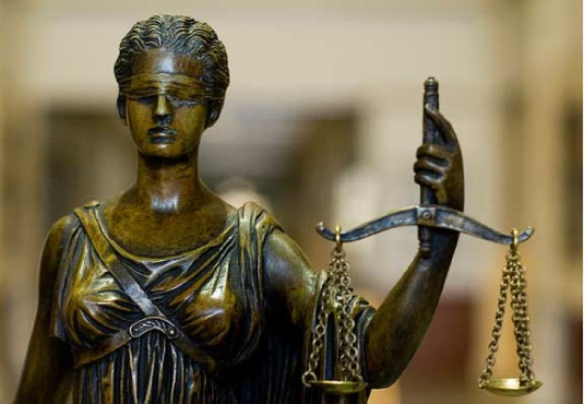 scales of justice - bronze  1
