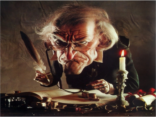 Scrooge counting his money 1
