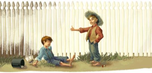 Tom Sawyer - white fence