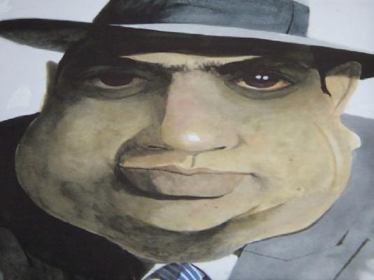 Al Capone caricature 1a