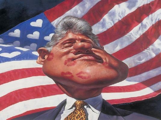 Bill Clinton - smoocher