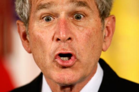 Bush being stupid 1