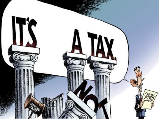 it's a tax - cartoon 1A