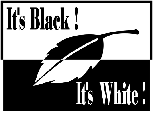 it's black - it's white 1a