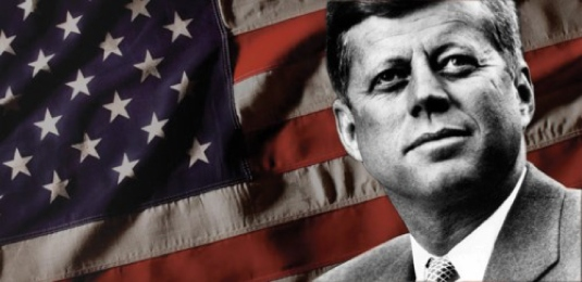 JFK and the flag 1