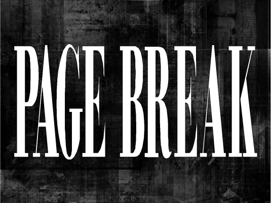 page break - black back 1