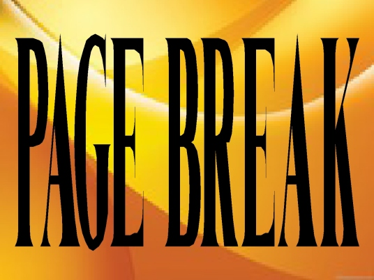page break - streaming yellow