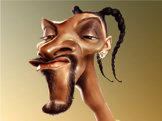 Snoop Dogg - caricature 3a