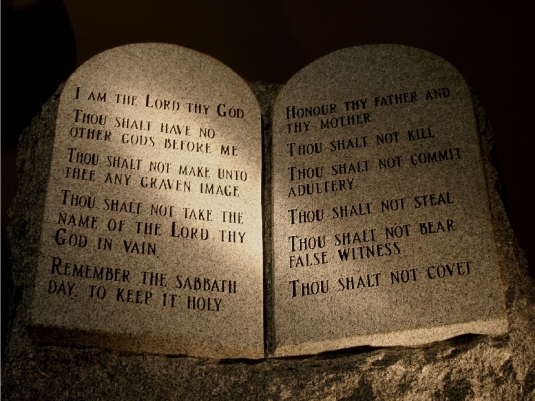 the 10 Commandments - in stone 1a