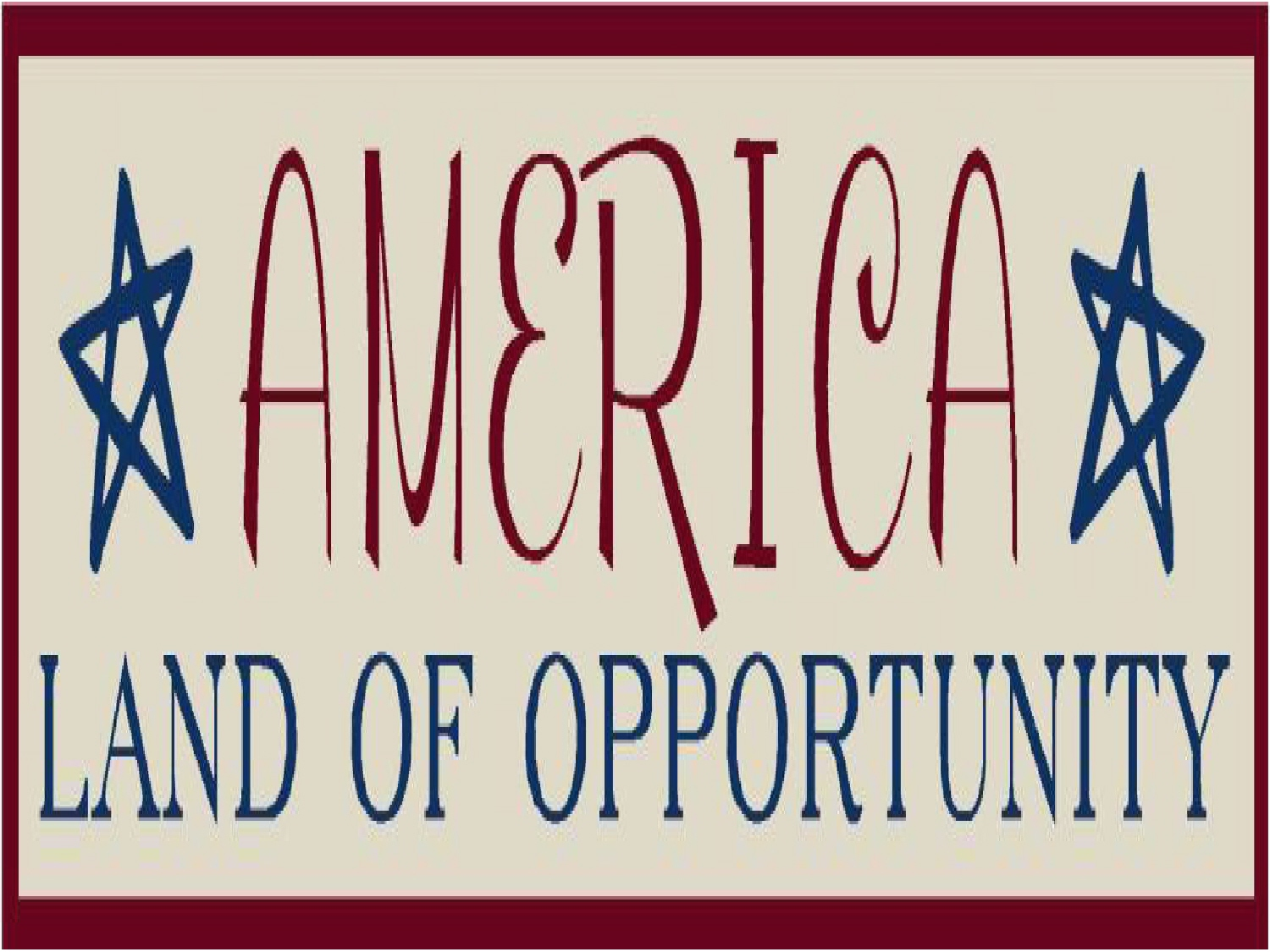 usa land of opportunity essay Did you grow up believing that america was the land of opportunity, that if you stayed in school and graduated, worked hard and played by the rules you could get ahead.