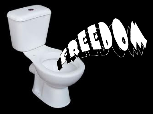freedom in the toilet 1a