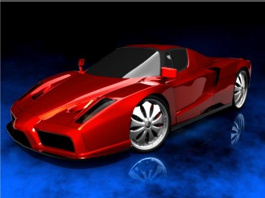 Red Enzo Ferrari 1a