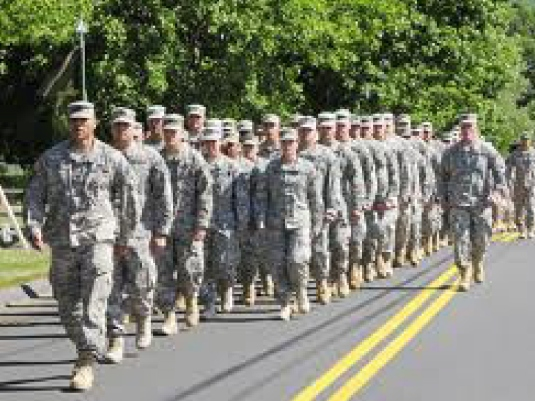 soldiers marching by 1a