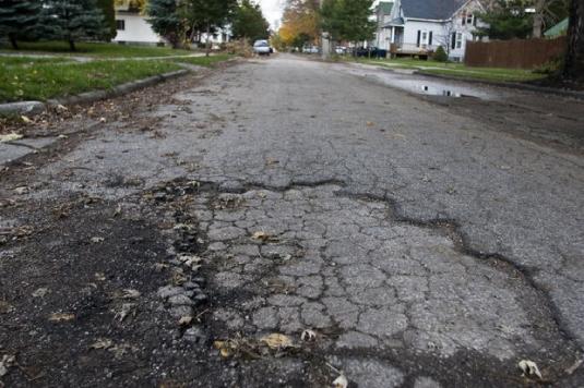 Street needs repair