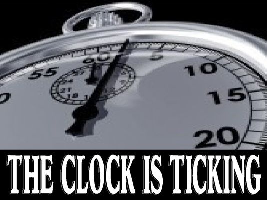 the clock is ticking - page bre