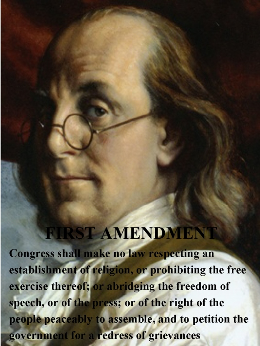 First Amendment - Ben Franklin 1A