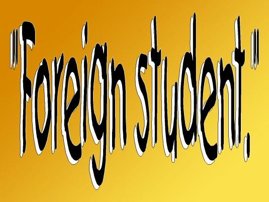 foreign student - WAR 1a