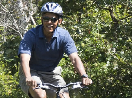 Obama - bicycle 1