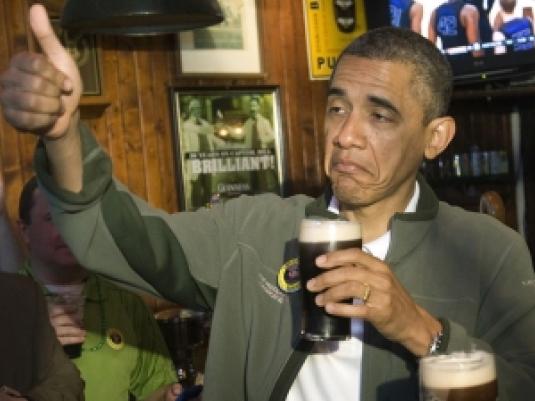 Obama - drinking 1