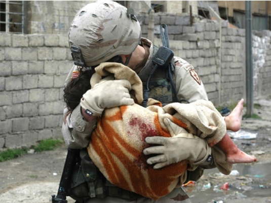 soldier - showing compassion 1a