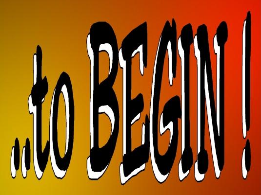 to begin - Page Break 1a