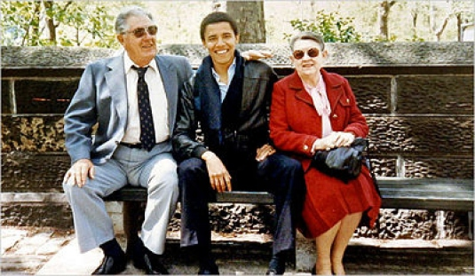 Barack Obama with grandparents