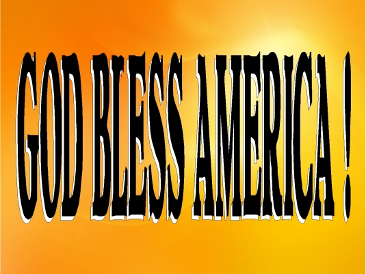 God bless America -  page break