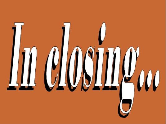 in closing - closing 1a