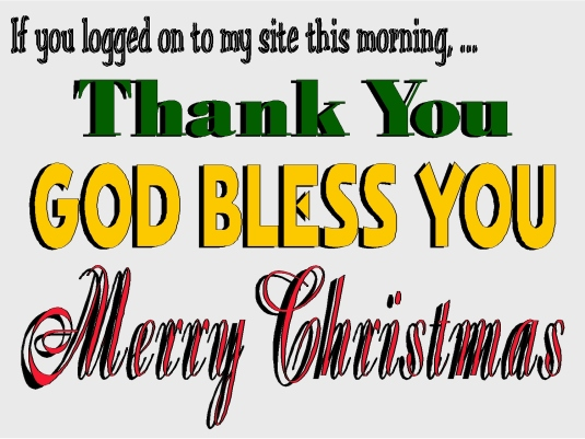 Merry Christmas - God bless you