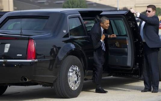 Obama - limousine 1