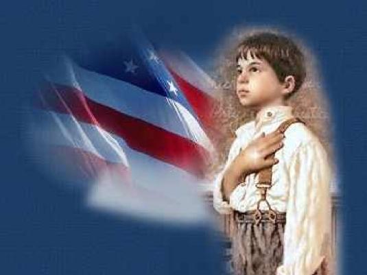 Pledge of Allegiance - boy 1a