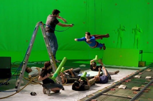 Superman - green screen 1