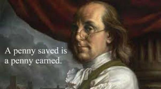 Benjamin Franklin - a penny sav